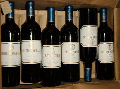 12 bouteilles de Haut-Médoc, Château Soudars,...