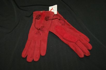 KENZO Paire de gants en cuir de chevreau...