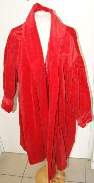 KENZO Manteau en coton rouge. Taille 38....