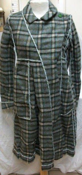 MARNI Manteau en laine à motif de tartan....