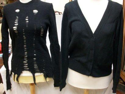 Lot de deux pulls noirs : Junya WATANABE...