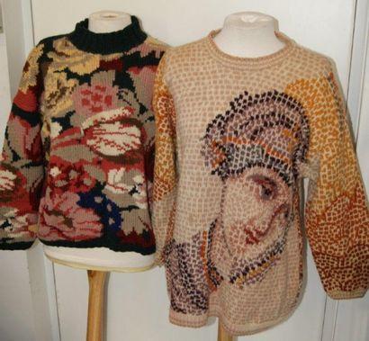 Joseph TRICOT Lot de deux pulls en laine....