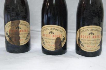 3 bouteille de Côteaux Champenois, Bouzy Rouge.
