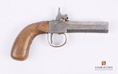 Pistolet à percussion, modèle à coffre, canon...