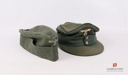 Armée allemande : casquette modèle 43, on...