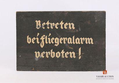 Panneau de signalisation allemand, Betreten...