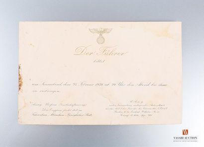 Carton d'invitation Invitation du Chancelier...