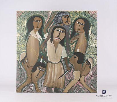 BUTEAU Gélin (1954-2000) Femmes en cérémonie...