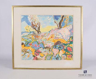 MARECHAL Claude (1925-2009) Paysage ensoleillé...
