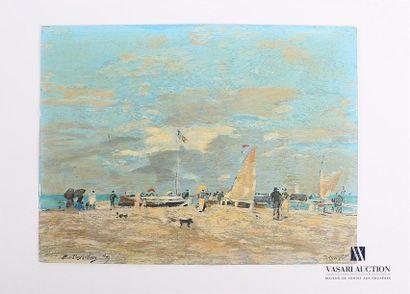 BOUDIN Eugène (1824-1898), d'après Vue de...