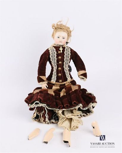 Calixte HURET - Période Huret / Lonchambon - 1860/1870 Poupée de mode française...