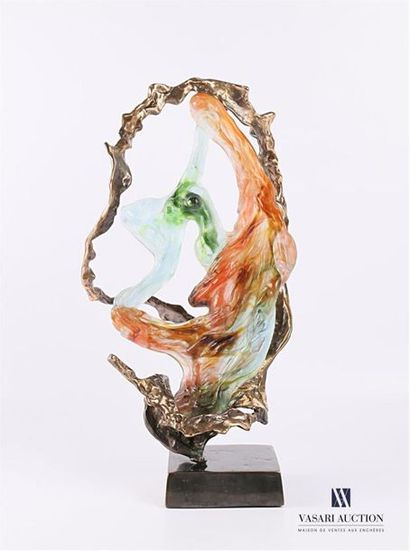 LOHE Yves (né en 1947) La Danseuse Bronze...