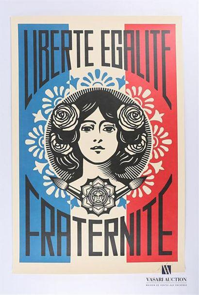 Shepard FAIREY (né en 1970) Liberté, égalité,...