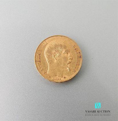 Pièce de 20 Frcs or Napoléon III 1855 Poids...