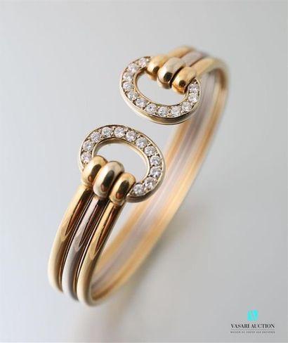 Dans le goût de Cartier, bracelet demi jonc...