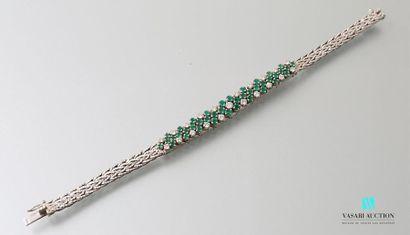 Bracelet souple en or gris 750 millièmes...