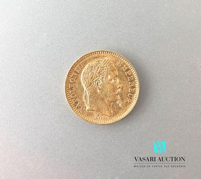 Pièce de 20 Frcs or Napoléon III 1866 Poids...