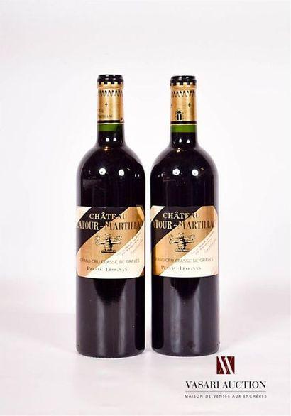 2 bouteillesChâteau LATOUR MARTILLACGraves...