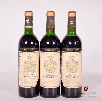 3 bouteillesChâteau GRUAUD LAROSESt Julien...