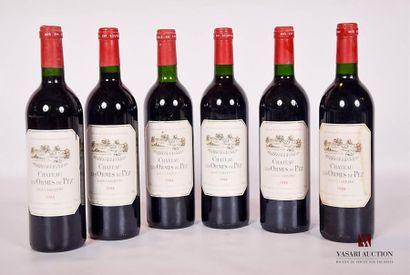 6 bouteillesChâteau LES ORMES DE PEZSt...