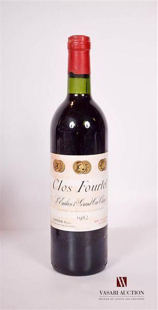 1 bouteilleCLOS FOURTETSt Emilion 1er GCC1982...