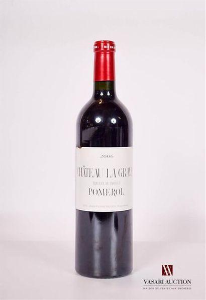 1 bouteilleChâteau LA GRAVE A POMEROL Trigant...