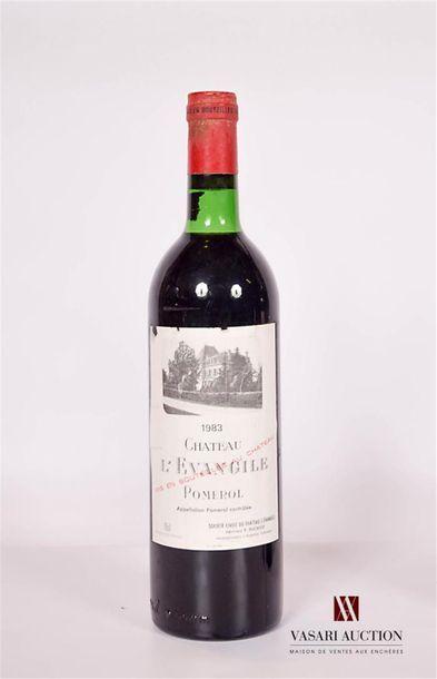 1 bouteilleChâteau L'ÉVANGILEPomerol1983...