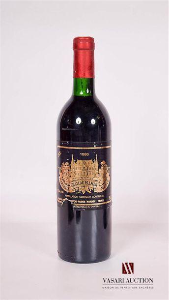 1 bouteilleChâteau PALMERMargaux GCC1986...