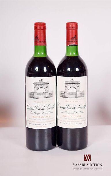 2 bouteillesChâteau LÉOVILLE LAS CASESSt...
