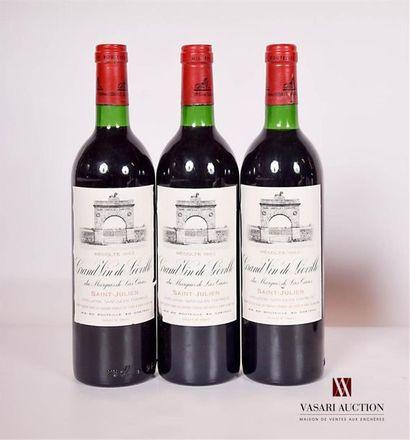 3 bouteillesChâteau LÉOVILLE LAS CASESSt...