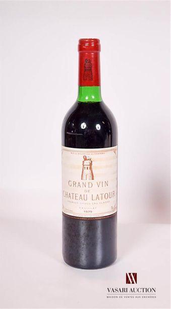 1 bouteilleChâteau LATOURPauillac 1er GCC1979...
