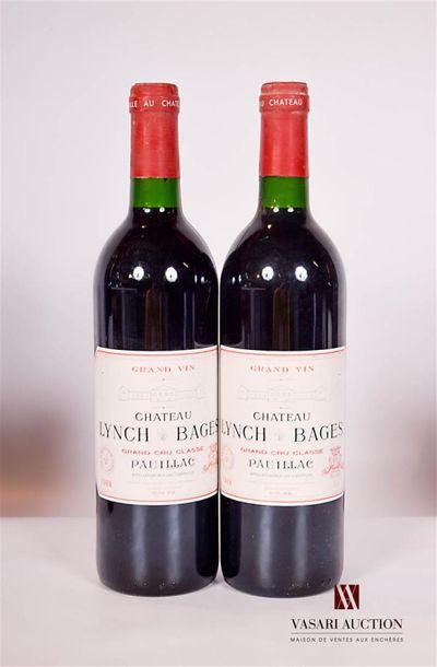 2 bouteillesChâteau LYNCH BAGESPauillac...