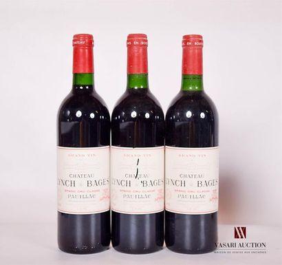 3 bouteillesChâteau LYNCH BAGESPauillac...