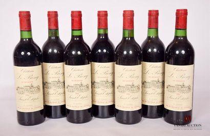 7 bottlesChâteau LE BOSCQSt Estèphe CB1983Et . excellent. N: 2 half neck, 5 half/low...