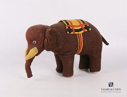 Peluche figurant un éléphant Début XXème...