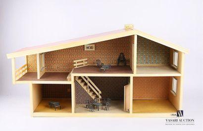 LISA Maison de poupée en plastique, carton...