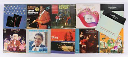 Lot de onze vinyles : - Kenny Burrell & Coleman...
