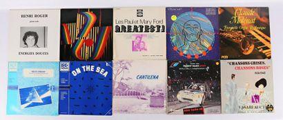 Lot dix vinyles : - Henri Roger Energies...