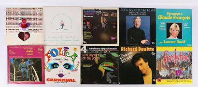 Lot de dix vinyles : - Hideo Koh et ses chansons...