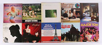 Lot de dix vinyles : - Parade des succès...