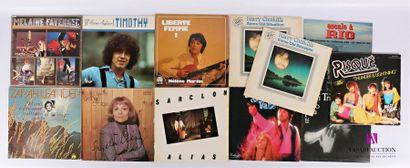 Lot de onze vinyles : - Melaine Favennec...