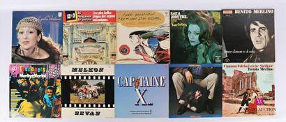 Lot de dix vinyles : - Lydia Verkine Y a...