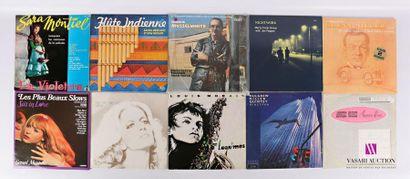 Lot de dix vinyles : - Sara Montiel La Violetera...