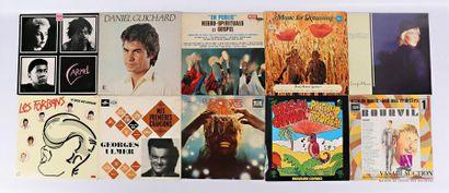 Lot de dix vinyles : - Carmel - 1 disque...