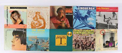 Lot de dix vinyles : - Helena Lemkovitch...