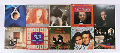 Lot de dix vinyles : - Rika Zarai Chante...
