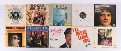 Lot de dix vinyles : - Deny Delmin Bienvenu...