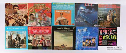 Lot de dix vinyles : - Nouvelle Orléans Claude...