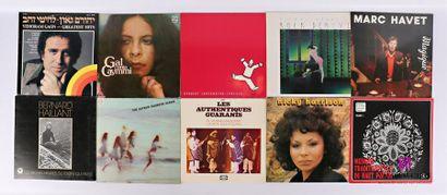 Lot de dix vinyles : - Yehoram Gaon - 1 disque...
