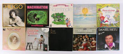 Lot de dix vinyles : - Hugo - 1 disque 33T...